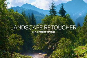 14 Landscape Retouching Actions