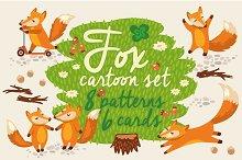 Fox cartoon set