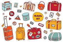 Travel set. Vintage suitcases