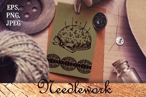 Needlework graphic set