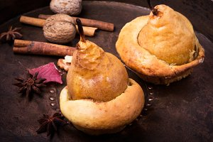 Autumn Baked Pear