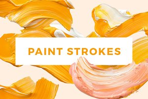 Paint Strokes - Orange Cream