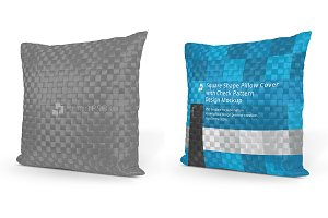 Square Shape Check Pattern Pillow