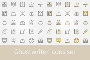 Ghostwriter icons set