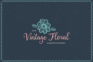 Vector Vintage Floral