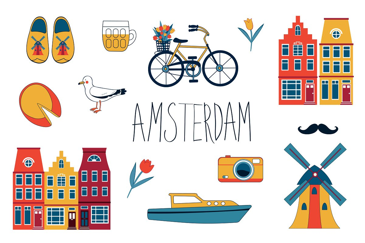 Amsterdam graphics and patterns