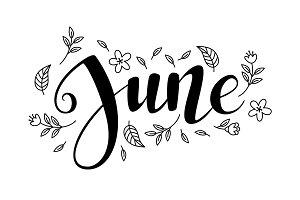 Cute brush calligraphy of month of the year