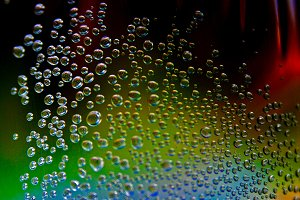 Color bubbles on dark background