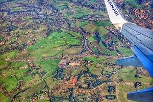 Landview trough airplane