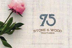 75 Stone & Wood Textures