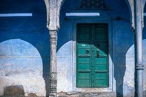 Green Vintage Door