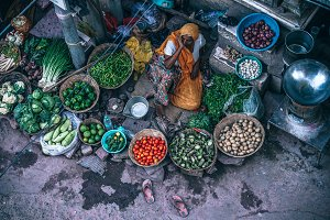 Farmer Selling Her Produce