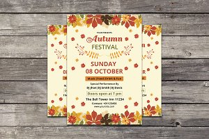 Autumn / Fall Festival Flyer -V626