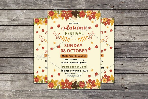 Autumn / Fall Festival Flye-Graphicriver中文最全的素材分享平台