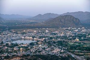 City Of Pushkar From Above