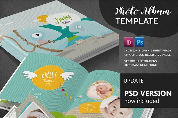 ID & PSD Album Template ~ Brochure Templates ~ Creative Market