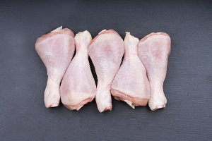 Raw chicken legs