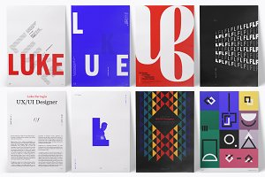 Typographic Resume/CV Posters