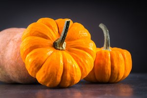 orange decorative pumpkins