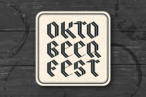 Coaster with lettering for Oktoberfest Beer Festival