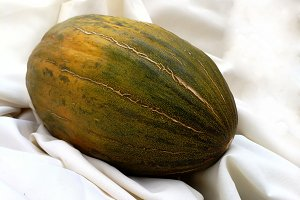 Melon on white cloth