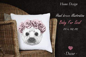 Baby Fur Seal / Decor
