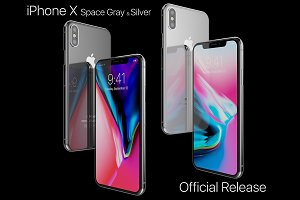 Apple iPhone X Silver and Space Gray