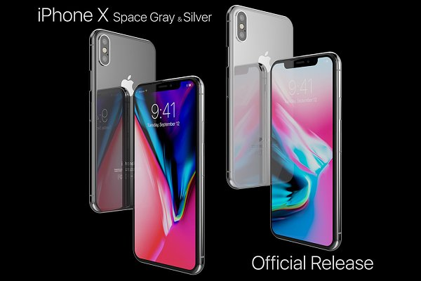 3D Electronics: 3D Models by Obshansky - Apple iPhone X Silver and Space Gray