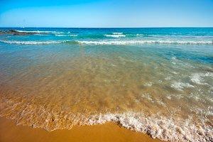 sea beach blue sky landscape