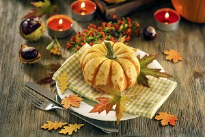 Autumn dinner, table decoration