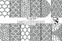 Seamless Glitter Patterns #2 Slvr