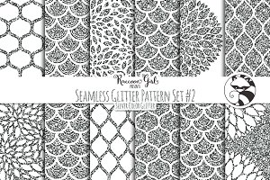 Seamless Glitter Patterns #2 Slvr
