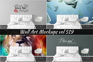Wall Mockup - Sticker Mockup Vol 519