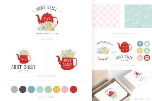 Handdrawn Floral Brand Identity Kit