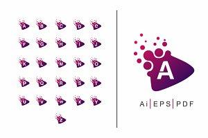 A-Z Dots Play logo - Alphabet Pack