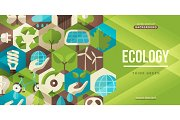 Ecology concept horizontal banner