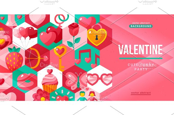 Valentines day creative flyer