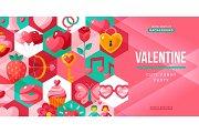 Valentines day creative flyer