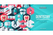 Dentistry tooth care creative banner