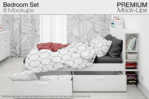 Beddings Curtains Pillows Walls Set