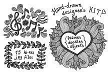 Hand-drawn designer's kit