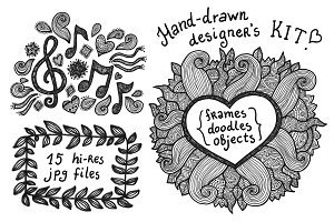Hand-drawn designer's kit