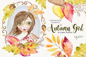 Autumn Girl illustration