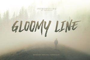Gloomy Line Brush Font