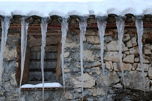 Icicles in the house