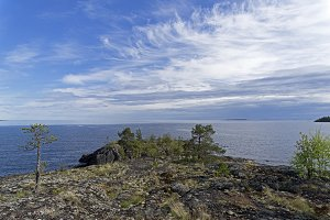 Granite shore of Lake Ladoga.