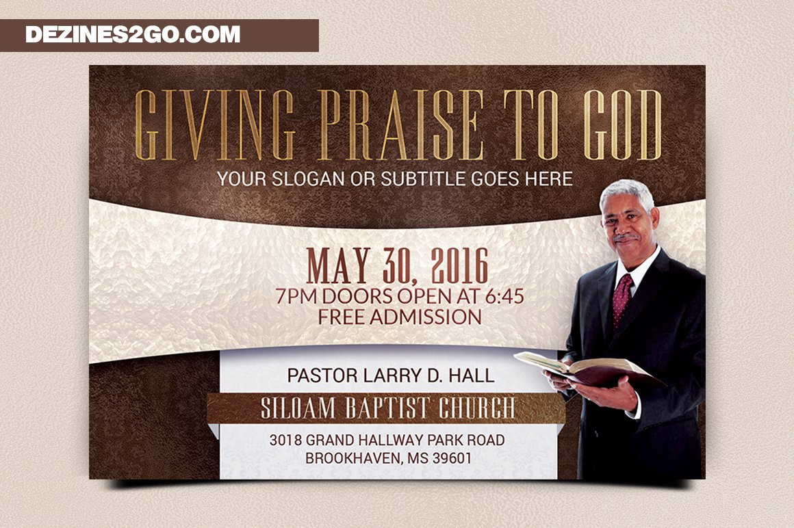 Giving Praise Church Flyer Template Flyer Templates Creative Market - Conference flyer template free