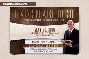 Giving Praise Church Flyer Template