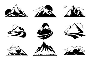 Mountains silhouettes illustration