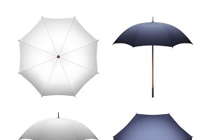 White and black umbrella